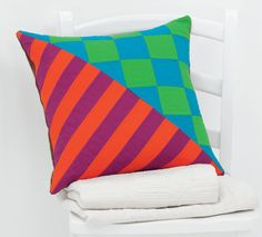 These modern pillows are fantastic. From Solids, Stripes, Circles, and Squares by Pippa Eccles Armbrester.