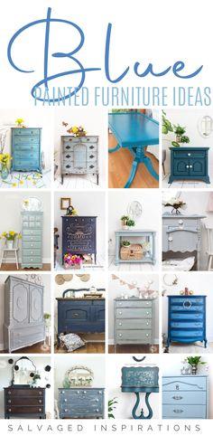 Diy Furniture Trim, Diy Old Furniture Makeover, Blue Painted Furniture, Salvaged Furniture, Diy Dresser Makeover, Farmhouse Furniture, Furniture Ideas, Furniture Refinishing, Painted Chairs