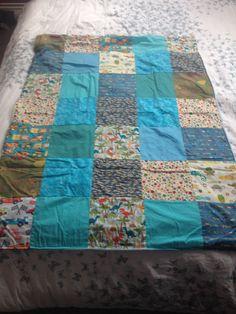 Boys patchwork blanket I made.