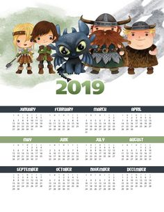 A Free Printable 2019 How To Train Your Dragon One Page Calendar is perfect for Kids of ALL ages! A FUN way to keep track of important dates and events! Adele, Free Calendar, 2019 Calendar, Dragon Trainer, Important Dates, First Page, Planner, How Train Your Dragon, Vector Background