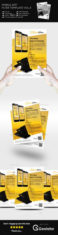Mobile App Flyer Template Vol 3