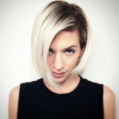 Shadow Blonde hair color melt - short do