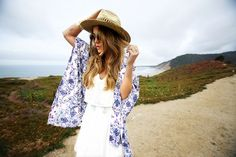 Angelica Blick /Kimono from Lindex/Dress from Zara/Shoes from Romwe/Hat from Lindex/Shades from Gina Tricot/