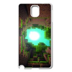 Custom White Shell Phone Case Samsung Galaxy Note 3 N9000 Cases Minecraft Game BADkground Personalized Design