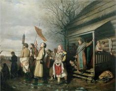 Easter Procession in a Village - Vasily Perov 1861 A member of the Wanderers movement