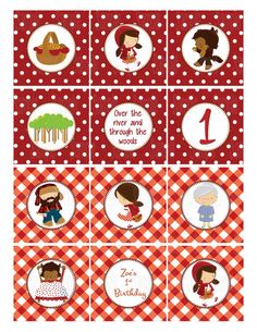 Printable Little Red Riding Hood Cupcake by PartyInnovations09, $5.00