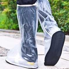 High-quality Men Women 1 Pair Rain Shoes Cover Waterproof High Boots Flats Slip-resistant Overshoes Rain Gear - NewChic Mobile.