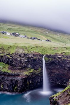 Gásadalur, Feroe Islands Land Scape, Waterfall, Photos, Luxury, Places, Islands, Outdoor, Nature, Landscape