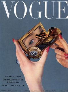 Vogue Paris cover by Arik Nepo, December 1950/January 1951