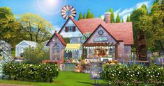 Sims 4 Farmer's Market 農莊的小市場 - Ruby's Home Design Forest Cabin, Forest House, My Sims, Sims Cc, The Sims 4 Lots, Sims 4 Build, Sims 4 Houses, Farmer, House Design