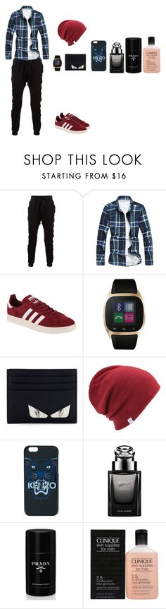 """""""Date"""" by jasmin198 ❤ liked on Polyvore featuring Blood Brother, adidas Originals, iTouch, Fendi, Coal, Kenzo, Gucci, Prada, Clinique and men's fashion"""