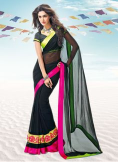 PlainSaree PRODUCT DETAILS:Color of the saree  Black Fabric of the Saree  Pure Georgette Fabric of the Blouse  DhupionCHOOSE ME:A mild embroidered saree like plain saree helps pep up your mood instantly It's light weight and equally stylish Plain saree brings a touch of tradition with a twist of casualness Look Simple  gorgeous with all new collection of plain sarees. Shipping Info  The Product Will Dispatch In 5 Days Of Placing the Order Wash Care Instructions :Dry Clean Length of the Saree…