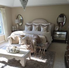 48 Inspiration Home Decor Ideas To Rock Your Next Home - Interior Design Glam Bedroom, Cozy Bedroom, Home Decor Bedroom, Diy Home Decor, Master Bedroom, Bedroom Ideas, Bedroom Inspo, Inspire Me Home Decor, My New Room