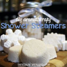 diy aromatherapy shower steamers 2 cups baking soda 1 cup citric acid 1 cup arrowroot powder (you can substitute with cornstarch) Tbsp. filtered water essential oils (see blends below for your specific needs) Shower Bombs, Bath Bombs, Shower Steamers, Diy Scrub, Be Natural, Natural Living, Natural Skin, Natural Health, Going Natural