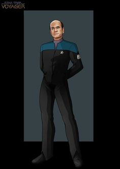 my toon version of the doctor (aka the EMH) emergency medical hologram from star trek voyager