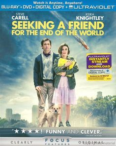 Seeking A Friend For The End Of The World Blu-Ray Review & Podcast.