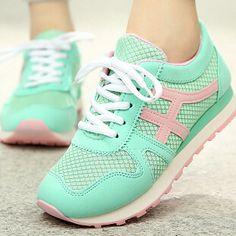 brand new 1aede 64799 Aliexpress.com  Comprar 2015 mujeres Casual calzado deportivo zapatillas de  malla transpirable Agam moda zapatos planos famosa marca de recorrido libre  de ...
