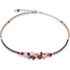Coeur De Lion Red and White Berry Swarovski Cluster K4654 Necklace 4486-10-0321 - 5 Star Customer Service, Free First Class Delivery & Official Coeur De Lion stockist. Full Range of Coeur De Lion available at http://www.identityonline.biz/products/Coeur-De-Lion/102