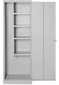 Armario met lico escobero 2 puertas gris 60 x 180 x 40 leroy merlin ideas pinterest - Armario balcon ...