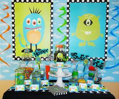 Michelle's Party Plan-It: Monster Bash for a Special Lil' Monster. Cute posters