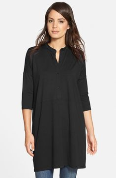 Eileen+Fisher+Mandarin+Collar+Jersey+Tunic+available+at+#Nordstrom