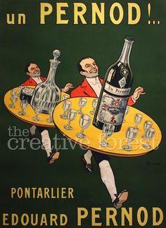 Vintage Pernod Absinthe Advertising Poster