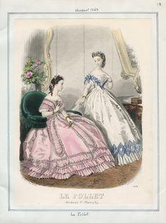 Le Follet, August 1863. LAPL Visual Collections.  Civil War Era Fashion Plate