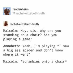 That he's really funny Malcolm was didn't even realize it was a spider until Annabeth told him Percy Jackson Head Canon, Percy Jackson Quotes, Percy Jackson Fan Art, Percy Jackson Books, Percy Jackson Fandom, Funny Percy Jackson, Percabeth, Solangelo, Rick Riordan Series