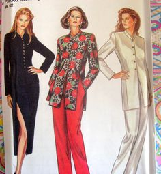 NEW LOOK Sewing Pattern 6141 Size 8-18 Skirt, Jacket, Pants, Split Sides
