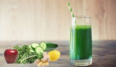 Smoothie: 2 apples 4 stalks of celery 1 cucumber 1 inch piece of ginger 1 handful of kale 1 lemon
