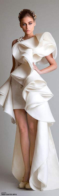 Krikor Jabotian Couture 2013-14 Beautiful wedding gown for the daring lady! www.weddingdigestkenya.com