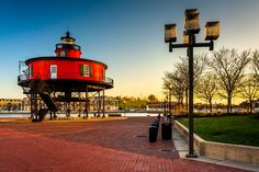 Phare Seven Foot Knoll, Maryland, EUA