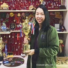 I win a trophy. OK,it is a sample of our sonier-pins company. 3 weeks left, we are going to attend global source gifts fair in HK. Looking forward to seeing you all soon.