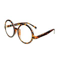 53ce298e83 Large Retro Clear Lens Circle Round Eye Glasses Black R681 – FREYRS -  Beautifully designed