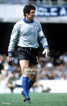World Cup Finals Vigo Spain 23rd June 1982 Italy 1 v Cameroon 1 Italy's goalkeeper Dino Zoff