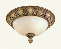 Livex Lighting 8458 Savannah 3 Light Flush Mount Ceiling Fixture Venetian Patina Indoor Lighting Ceiling Fixtures Flush Mount