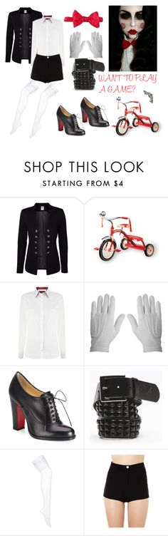 """Jigsaw Costume"" by male-sarmiento ❤ liked on Polyvore featuring Vero Moda, Barbour, Rothco, Christian Louboutin and Vans"