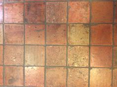 Classic 'rode janshof' floor tiles (red). Available in a wide scale of colours from broken white to almost green.