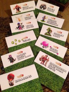 Clash of Clans Party – Birthday Party Printables, Ideas, Favors, Tent Signs…