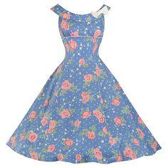 Pretty Kitty Blue Pink Floral Rose Summer Dress – Pretty Kitty Fashion