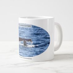 Gloucester MA  The Tail Of A Hump Back Whale Large Coffee Mug - cyo diy customize unique design gift idea