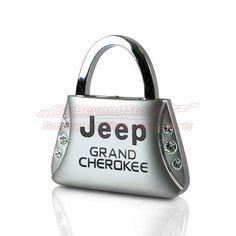Jeep Grand Cherokee Clear Crystals Purse Shape Key Chain | AG-KC9120-GRA | $11.95
