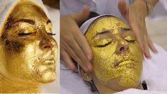 10 PCS 3 * 3 cm Spa máscara folha de ouro 24 K ouro máscara de equipamentos de salão de beleza Anti - rugas Face Lift beleza alishoppbrasil