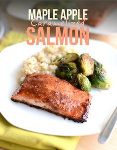 Get fancy with dinner tonight and make this Maple Apple Caramelized Salmon. It's a lot easier to make than it looks and full of so much delicious flavor! Savory Salmon Recipe, Baked Salmon, Salmon Recipes, Fish Recipes, Seafood Recipes, Baby Recipes, Healthy Meat Recipes, Cooking Recipes, Gastronomia