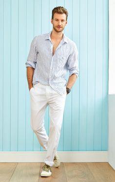 Richards | Verão 2014 masculino  Nada mal se fosse para usar com umas sandálias castanhas. ;)