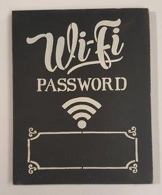 This Vanilla & Chalk Black 'Wifi Password' Chalkboard Wall Sign is perfect! #zulilyfinds