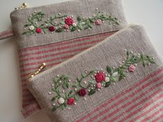 silk ribbon embroidery kits for beginners Embroidery Purse, Ribbon Embroidery Tutorial, Embroidery Patterns Free, Silk Ribbon Embroidery, Hand Embroidery Designs, Floral Embroidery, Machine Embroidery, Embroidery Supplies, Pochette Portable