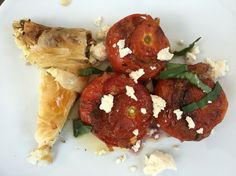 Stuffed tomatoes with amaranth and feta chese.