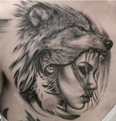Collection of Wolf Headdress Drawing . Wolf Sleeve, Wolf Tattoo Sleeve, Sleeve Tattoos, Tattoo Wolf, Wolf Girl Tattoos, Indian Girl Tattoos, Wolf Headdress, Headdress Tattoo, Stencils Tatuagem