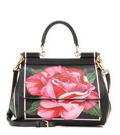 Dolce & Gabbana Sicily Small Printed Leather Shoulder Bag For Spring-Summer 2017